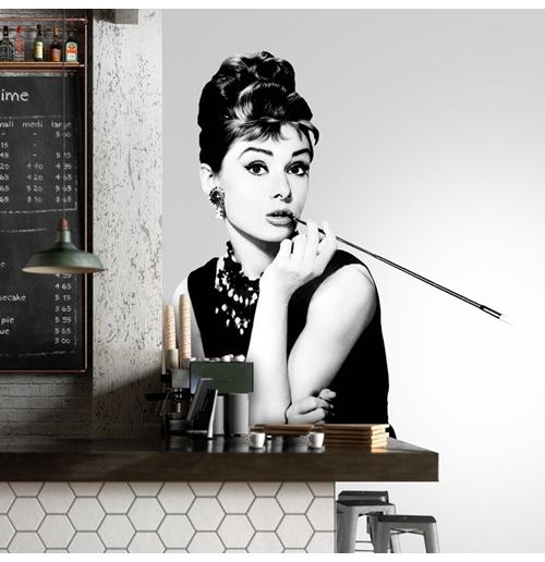 Wandtattoo Audrey Hepburn 274635