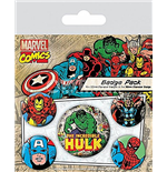 Broschen Set Marvel Retro -Hulk