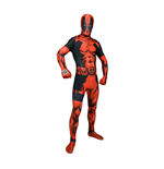 MARVEL COMICS Deluxe Deadpool Erwachsener Zappar Cosplay Kostüm Digital Morphsuit, groß, Multi-Color
