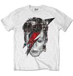 T-Shirt David Bowie Halftone Flash Face
