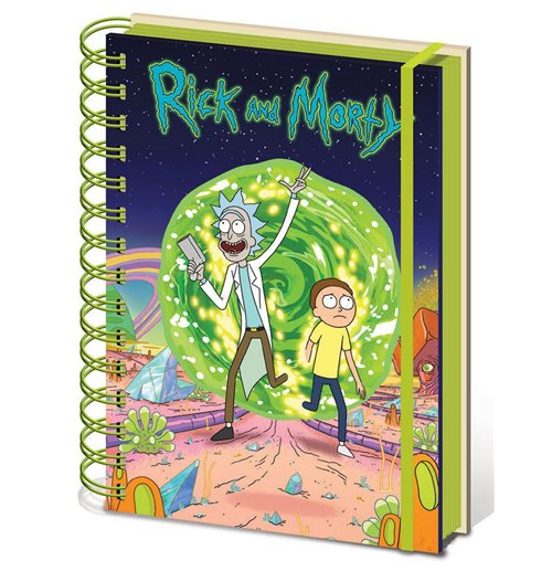 Rick and Morty Notizbuch A5 Portal