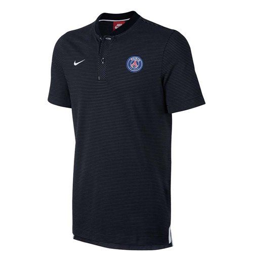 Polohemd Paris Saint-Germain 2017-2018 (Schwarz)