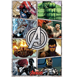 Poster The Avengers - Comiuc Panels - 61 x 91,5 cm.
