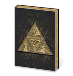 Legend of Zelda Premium Notizbuch A5 Metal TriForce