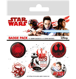 Star Wars Episode VIII Ansteck-Buttons 5er-Pack Resist