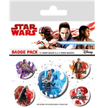 Star Wars Episode VIII Ansteck-Buttons 5er-Pack Icons