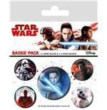 Star Wars Episode VIII Ansteck-Buttons 5er-Pack Characters