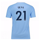 Trikot 2017/18  Manchester City FC 2017-2018 Home Kinder (Silva 21)