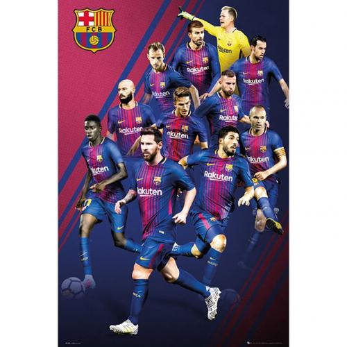 Poster Barcelona F.C. Players 50