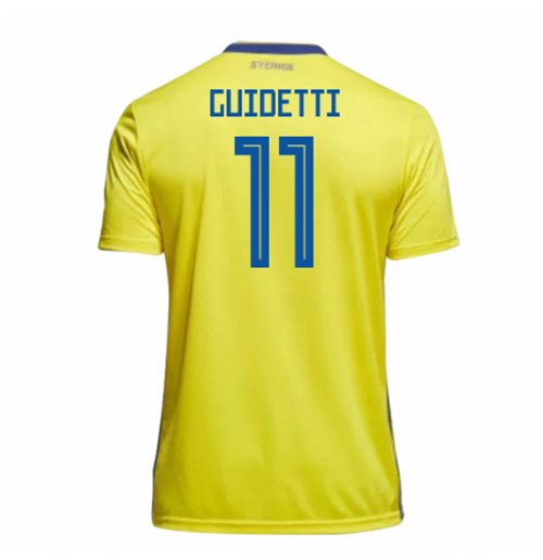Trikot 2018/19  Schweden Fussball 2018-2019 Home (Guidetti 11)  Kinder