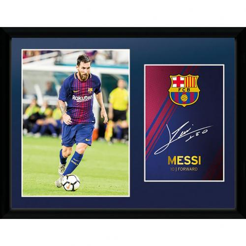 kaufe bilderrahmen fc barcelona mit bild messi gr sse 16 x 12. Black Bedroom Furniture Sets. Home Design Ideas