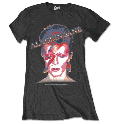 T-Shirt David Bowie Ladies Premium Tee: Aladdin Sane