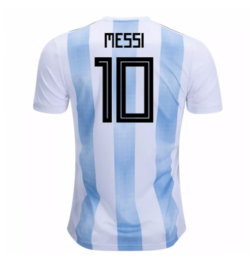 Trikot 2018/19  Argentinien Fussball 2018-2019 Home  (Messi 10) Kinder