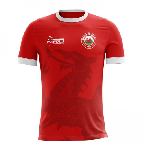 T-Shirt Wales Fußball 2018-2019 Home Concept