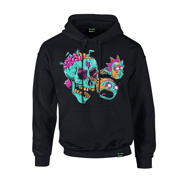 Rick And Morty X Absolute Cult Sweatshirt EYEBALL SKULL