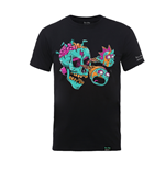 Rick And Morty X Absolute Cult T-Shirt EYEBALL SKULL in schwarz