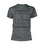 T-Shirt Game of Thrones (Game of Thrones) - I Drink & I Know Things