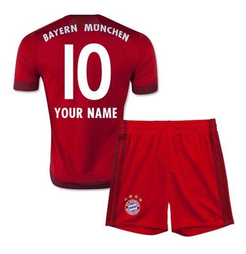 Fussballtrikot Set Fur Kinder Bayern Munchen 2015 2016 Home Personalisierbar