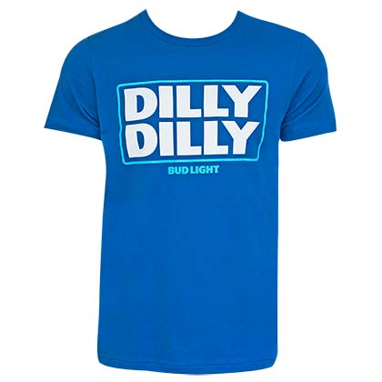 T-Shirt Bud Light  Dilly Dilly Logo in blau