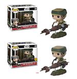 Star Wars POP! Movies Vinyl Figuren Leia / Luke with Speeder Bike 10 cm Sortiment (3)