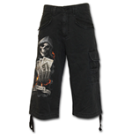 Ace Reaper - Vintage Cargo Shorts 3/4 Lang in schwarz
