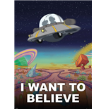 Poster Rick and Morty - I want To Believe - 100 x 140 cm.