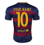 T-Shirt Barcelona 2015-2016 Home Personalisierbar