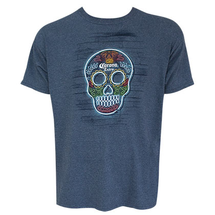 CORONA EXTRA Skull Logo Heather in blau