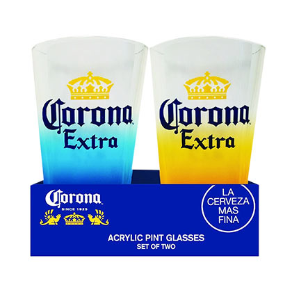 Glas Corona  EXTRA Acrylic Pint Glass Set