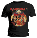 Iron Maiden T-Shirt für Männer - Design: Powerslave Lightning Circle