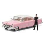 Elvis Presley Diecast Modell 1/43 1955 Cadillac Fleetwood Series 60 Pink Cadillac mit Figur