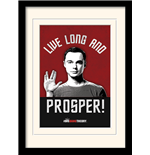 Kunstdruck Big Bang Theory - Live Long And Prosper - 30X40 Cm