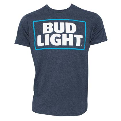 T-Shirt Bud Light Basic Logo in blau