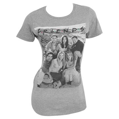 T-Shirt Friends  für Frauen in grau