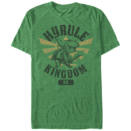 T-Shirt NINTENDO  Young Link and the hero academy of the Hyrule Kingdom in  The Legend of Zelda Hero Academy in grün