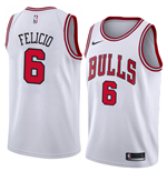 Chicago Bulls Trikot Cristiano Felicio Nike Association Edition Replik