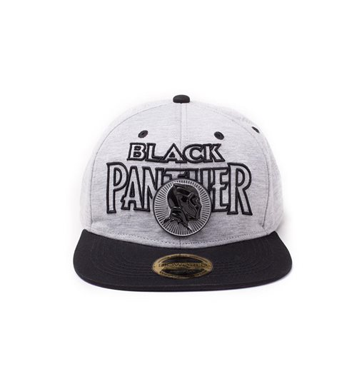 Black Panther Movie Snap Back Hip Hop Cap Metal Badge