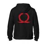 Sweatshirt God Of War Serpent Logo Zipper Hoodie in voller Länge, extra groß, in schwarz.