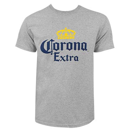 T-Shirt Corona Estra Logo Men´s in grau