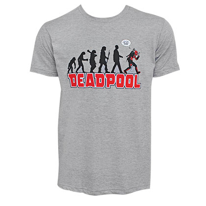 T-Shirt Deadpool Evolution für Männer in grau