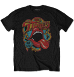 The Rolling Stones T-Shirt für Männer - Design: Retro 70s Vibe  (Soft-Hand Inks)