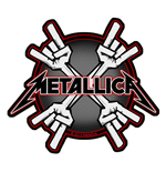Metallica Aufnäher - Design: Metal Horns