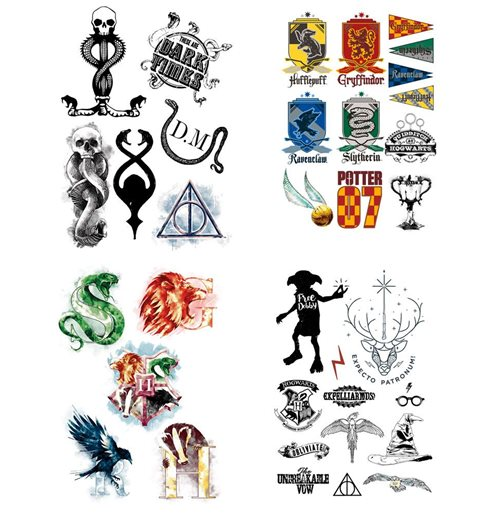 Harry Potter Tattoos 35-er Set
