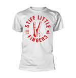 T-Shirt Stiff Little Fingers  DIGITS in weiss