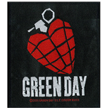 Green Day Aufnäher - Design: Heart Grenade