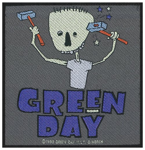 Green Day Aufnäher - Design: Hammer Face