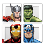 Marvel Teller 4er-Pack Avengers Faces