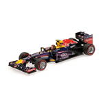 RED BULL RB9 MARK WEBBER LAST FORMULA 1 RACE GP BRAZIL 2013 WITH FIGURINE