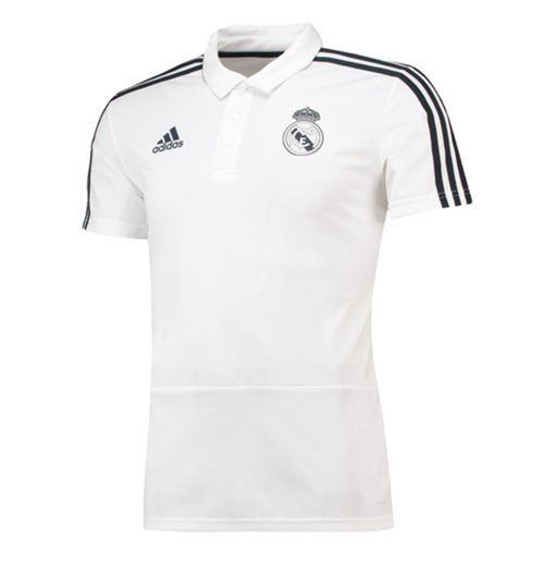 Polohemd Real Madrid 2018-2019 (Weiss)