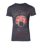 T-Shirt Jack Daniel's Old Adversiting, Large in grau